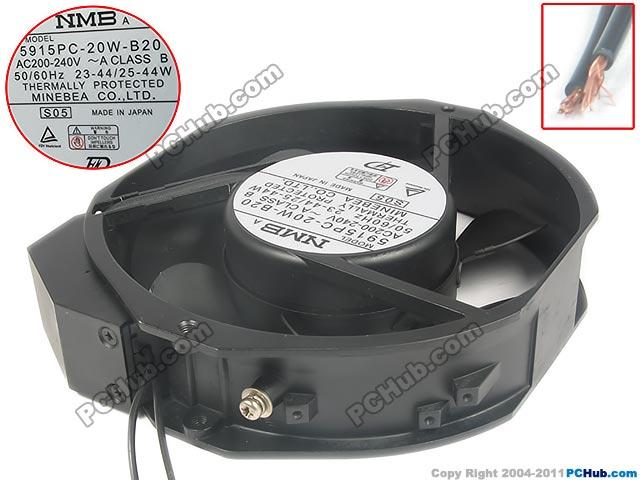NMB-MAT  5915PC-20W-B20, S05 AC 240V 44W, 172x172x38mm  Server Round fan free shipping for nmb 5915pc 20w b20 s05 ac 200v 35w 2 pin 172x150x38mm server square fan