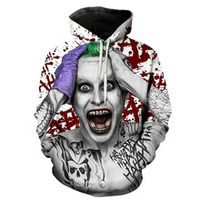 Brand Fashion 3D hoodies Cartoon print Women/Men Hoody Printing a Clown  Casual Hooded Sweatshirts