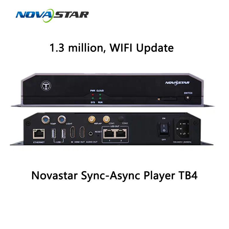US $413 25 5% OFF|Novastar Tharus TB4 synchronous asynchronous dual modes  online offline media player controller system-in Display Screen from
