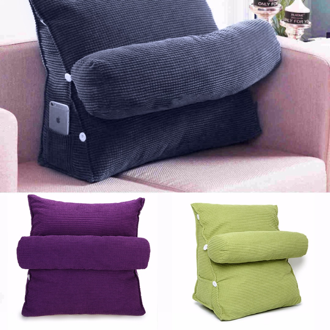 office chair neck support swivel amazon adjustable solid rest waist back wedge cushion sofa bed pillow ...