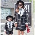 Соответствия Мать Дочь Одежда Наряд Мать Дочь Одежда Верхняя Одежда Хлопка С Длинным Рукавом Пальто 2016 Семья Matching Outfit