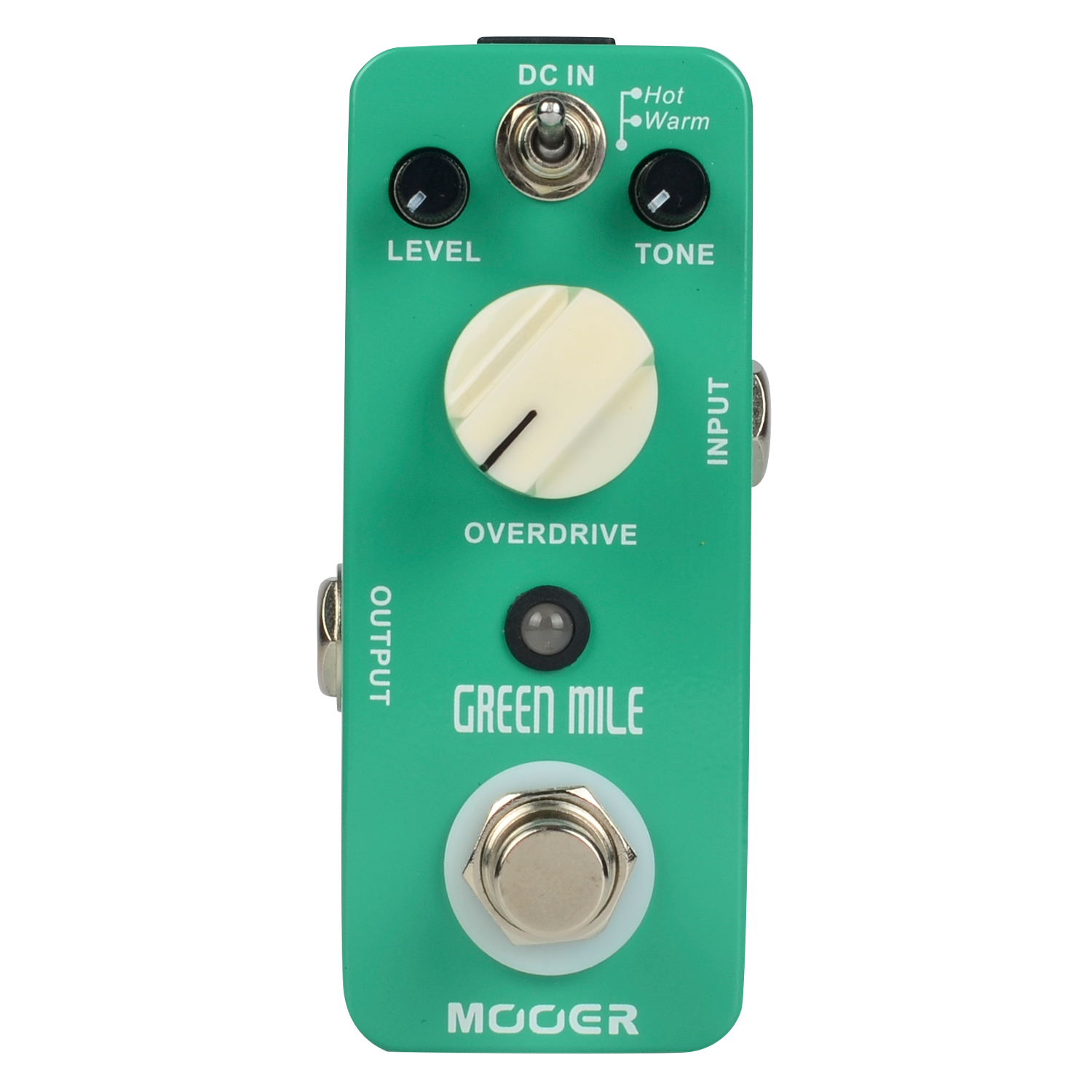 Mooer Green Mile Overdrive Micro Guitar Effects Pedal Warm and Hot Modes True Bypass MOD1 mooer ninety orange phaser guitar effect pedal micro analog effects true bypass with free connector and footswitch topper