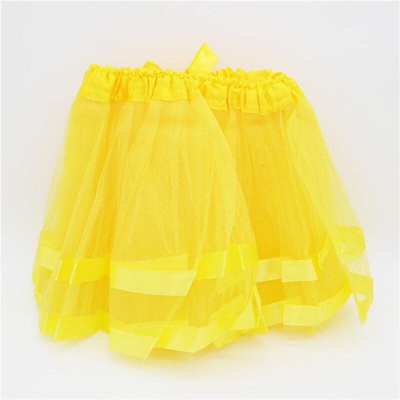 Обувь для девочек юбки-пачки юбка балерины для маленьких Желтый Детские пышные шифоновые Подъюбники дети Hallowmas tz0156