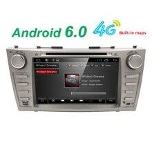 Android6.0 Quad core 1024*600 HD 2din coches reproductor de dvd Para CAMRY2007-11 auto radio doble din con Espejo-enlace Bluetooth OBD2 TDT