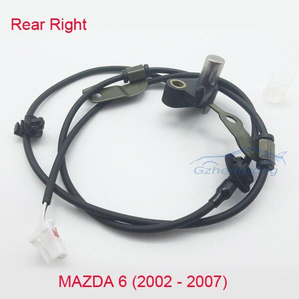 Rear Right ABS Wheel Speed Sensor for Mazda 6 02-07 GJ6A-43-71YB GJ6A4371YA ML2029 GJ6A-43-71YA GJ6A-43-71YC GJ6A4371YC