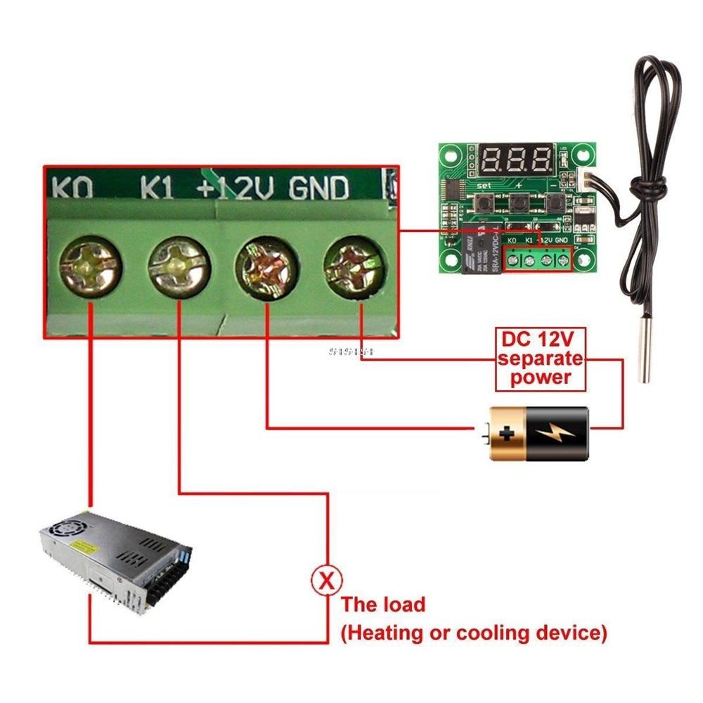 HTB1J KWc8fM8KJjSZFhq6ARyFXaW DC 12V W1209 Digital Cool/Heat Temp Thermostat Thermometer Temperature Controller On/Off Switch -50-110C+W1209 Case Acrylic Box