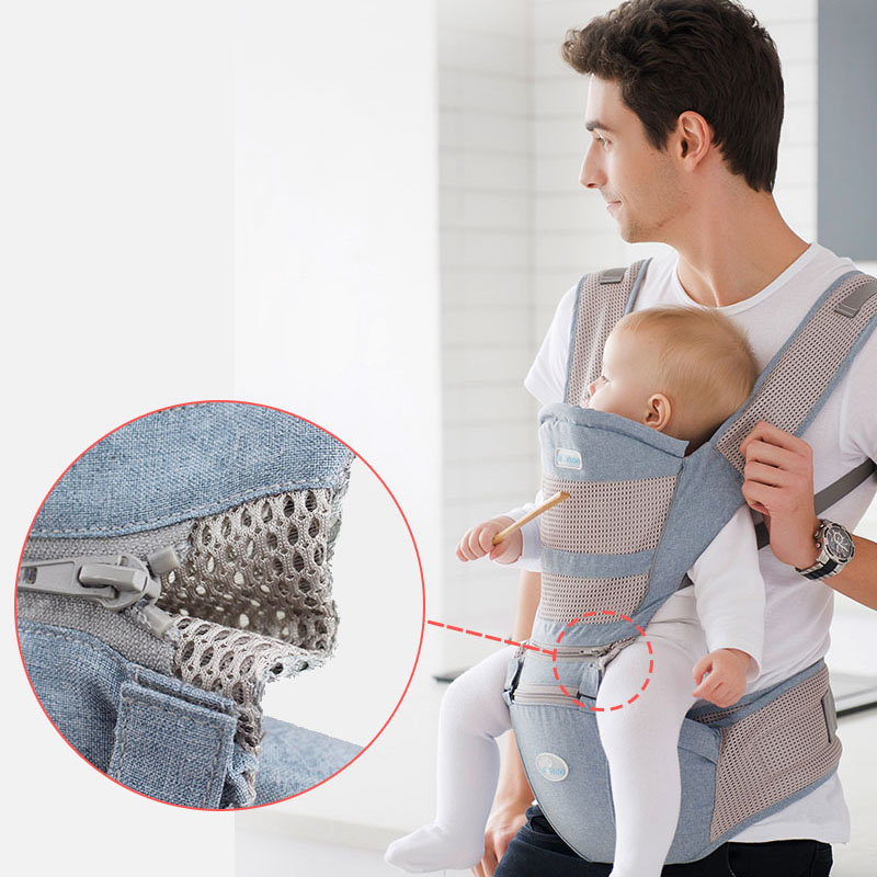 Sling Carrier Hipseat Waist-Stool Baby Ergonomic Front-Facing Kangaroo Infant Breathable