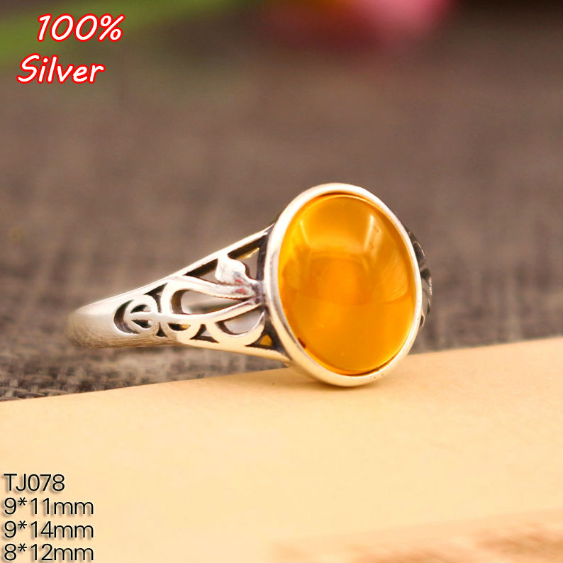 8*12/9*11MM 925 Sterling Silver Rings Setting With Oval Cabochon Base For Women Handmade Jewelry Setting Ring Blank Nice Gift