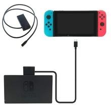 Nintendo anahtarı NS genişletici kablo 10 Gbps veri aktarım hızı TV Dock Video uzatma hattı kablosu NintendoSwitch Dock aksesuarı