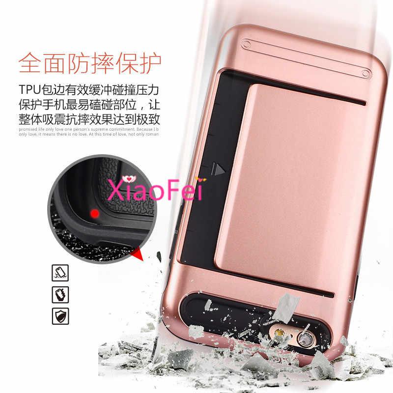 Für ipone iphon ihonee Ankunft Hohe qualität Hybrid Pinsel kartenhalter Hard Case Für Apple Telefon 6 plus/6 s plus abdeckung fällen