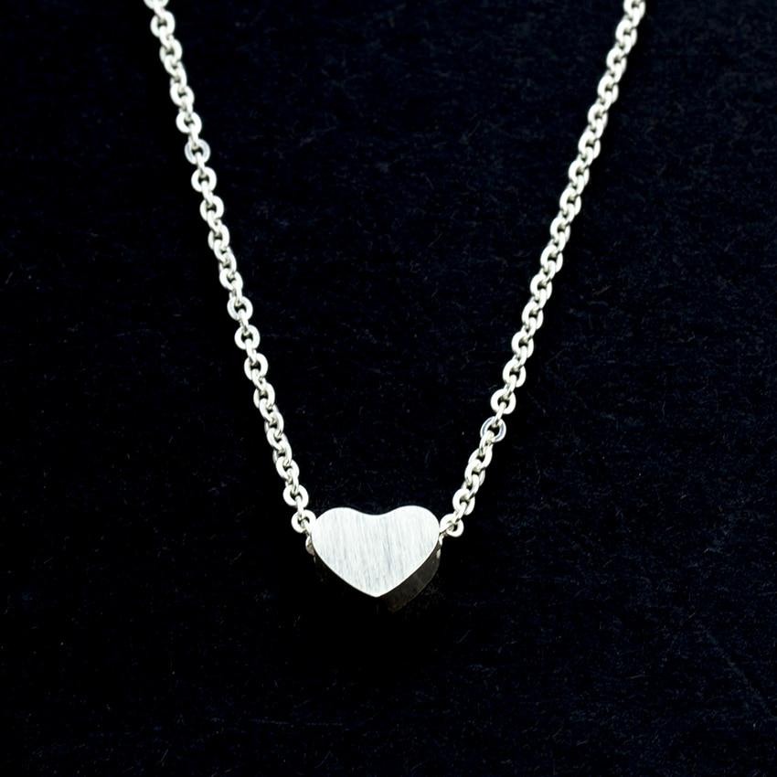 Minuscule amour coeur colliers en acier inoxydable petits coeurs en - Bijoux fantaisie - Photo 5