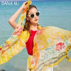 Image 2 - 2019 Silk Long Scarf Luxury Brand Women New Design Beach Blanket Shawl Wear Swimwear Bandana Hijab Face Shield Foulard 245*110cm