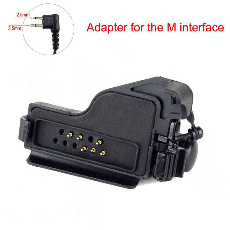 Walkie Talkie Audio Adapter For Motorola HT1000 MTX838 XTS3000 XTS5000 Adapter For M Interface 2Pin Headset Port Accessories
