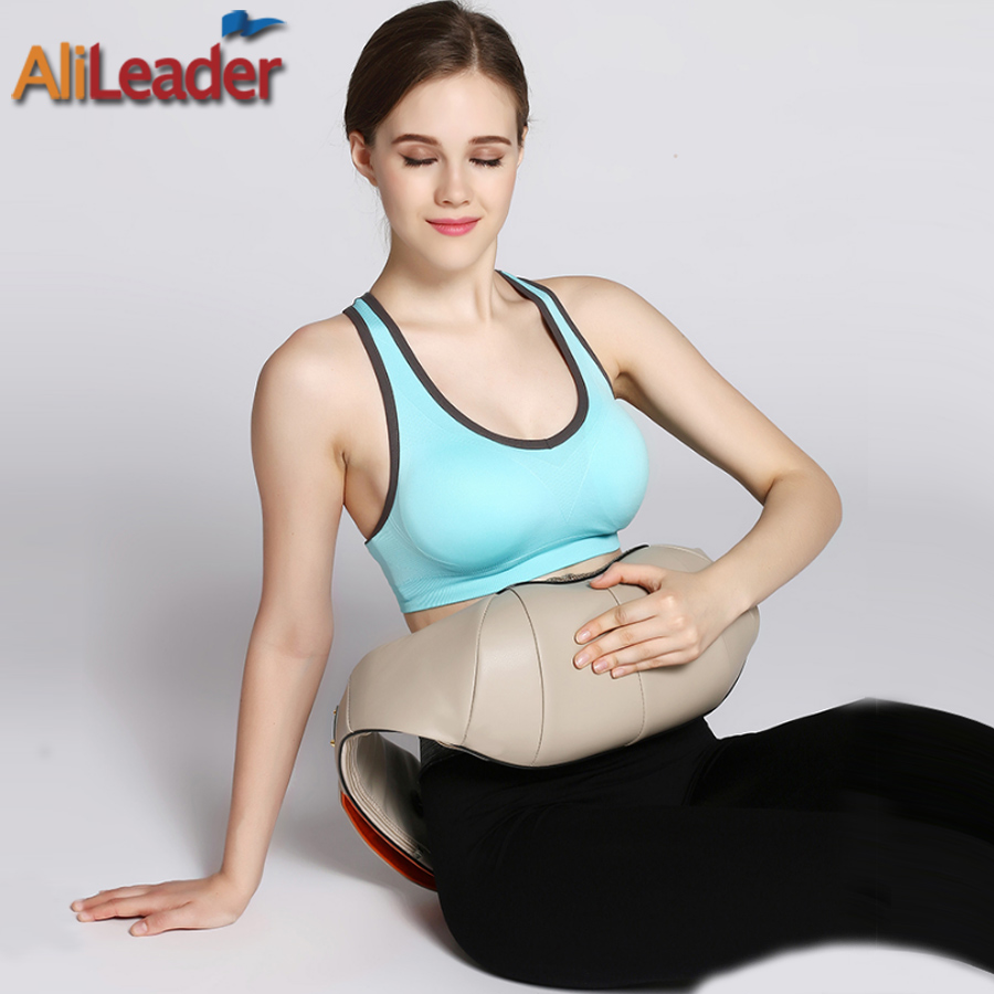 Simulated Human 4D Shiatsu Massage Electric Portable Massage Pillow With Heat For Back Shoulder Foot Arm Leg Waist Neck Massager alileader professional massager simulated human 4d shiatsu massage pillow with heat for back neck body massage and relaxation