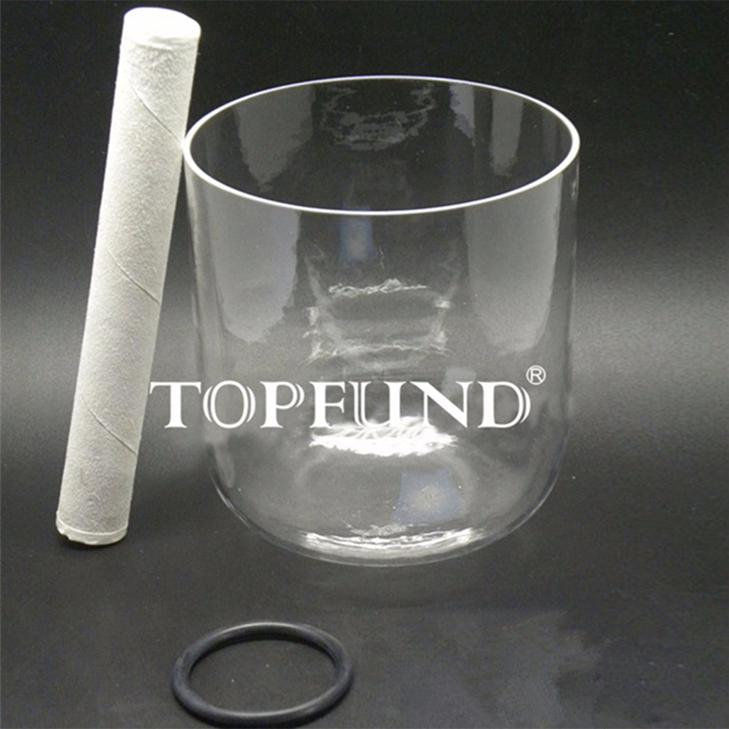 TOPFUND Clear Quartz Crystal Singing Bowl D# Note Sexual Chakra 7 local shipping 10 and 12 2pcs chakra white frosted quartz crystal singing bowl 432hz