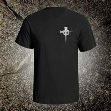 Cross With Crown Of Thorns tee shirt christian god holy bible crucifix jesus(China)