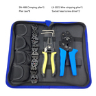 Tool set crimping pliers wire stripping pliers and 8 jaw 02C/06WF/16WF/06/11011/02W2C/0325/0725 for various terminals tools kit