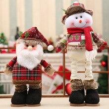 Christmas Sale Telescopic Standing Santa Snowman Elk Dolls Christmas Figurines Xmas Gift For Kids Christmas Decoration Noel
