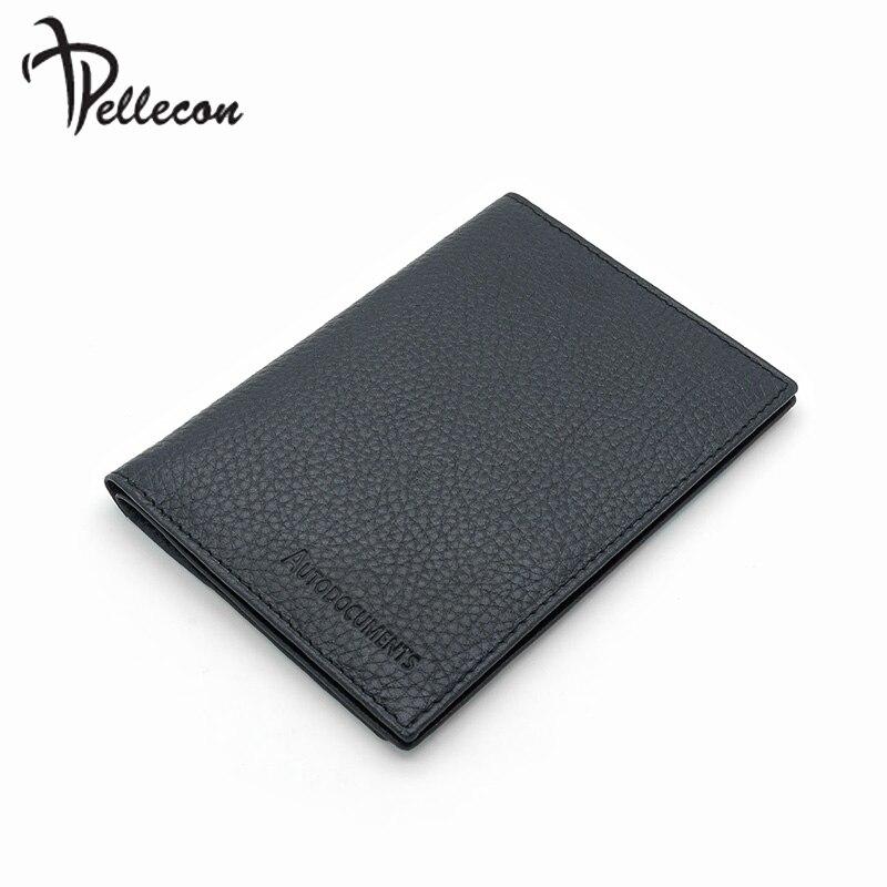 Pellecon étui pour passeport Véritable portefeuille de voyage en cuir Titulaire de la Carte D'affaires Nouvelle Année Cadeau Homme 102-705-1