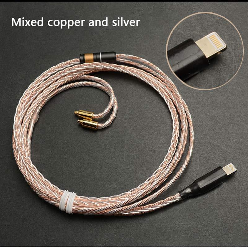 Mis à jour MMCX Remplaçable Câble pour Apple Téléphone Ci-dessous 10.2 Version pour Shure SE215 SE535 SE846 UE900 Écouteurs Audio Câbles Fil