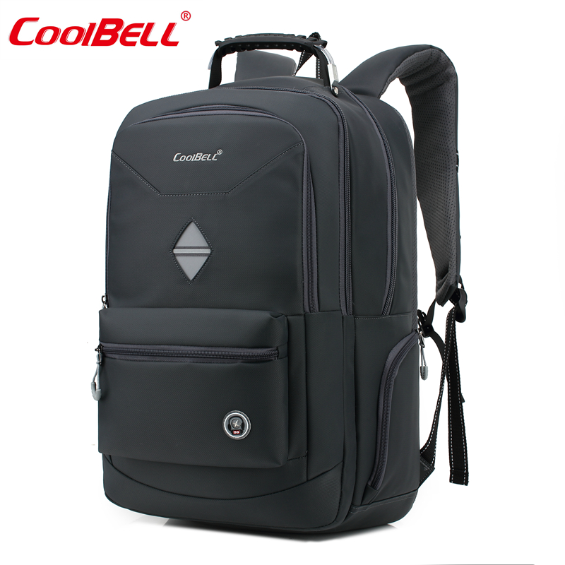 Cool Bell Waterproof 18.4 inch Men Women Portable Backpack Shockproof Business Backpack Bag for 10-17.6 inch Laptop Notebook
