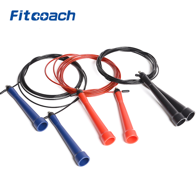 Plastic Handle With Ball bearing Skipping Rope Fitness Equipment Jump Rope In Gym