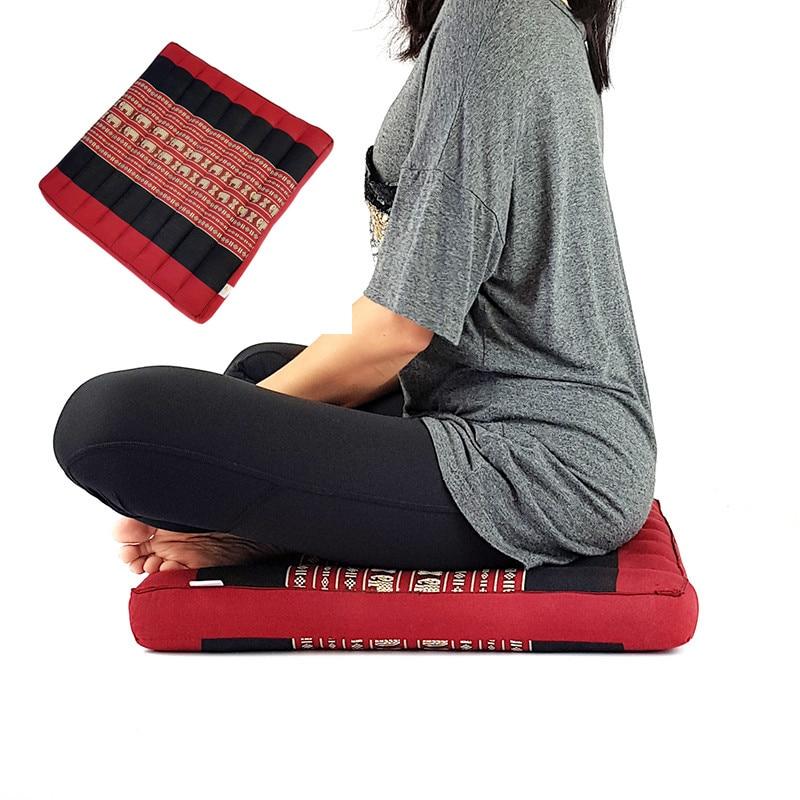 Coussin de siège de sol coussin de chaise multicolore confortable ferme conception thaïlandaise Yoga Zafu coussin de méditation 100% remplissage naturel Kapok