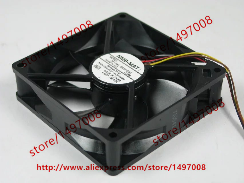 Free Shipping For NMB 3610KL-09W-B56 BB1 DC 12.6V 0.0.28A 4-wire 5-pin connector 90mm 92x92x25mm Server Square Cooling Fan free shipping for delta afc0612db 9j10r dc 12v 0 45a 60x60x15mm 60mm 3 wire 3 pin connector server square fan