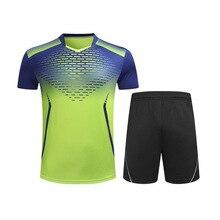 Мужской/женский/Детский костюм для бадминтона, рубашка и шорты для настольного тенниса, одежда для тенниса, одежда для бадминтона, спортивные рубашки, униформа