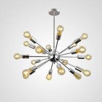Aero Snail Silver Vintage Retro Industrial Metal Large Pendant Hanging Light Ceiling Lamp Chandelier 18 Lights