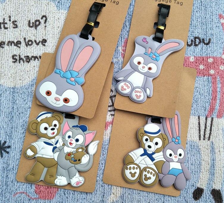 Cute Stella Lou Rabbit Stuffed Plush Toys Friend Of Duffy Bear Stellalou Animal Dolls Kids Gifts Luggage Tags Accessory