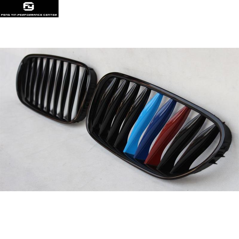 Grilles de course E85 E86 Z4 noir brillant mat noir ABS Grille de calandre pour BMW E85 E86 Z4 pare-chocs avant 03-08