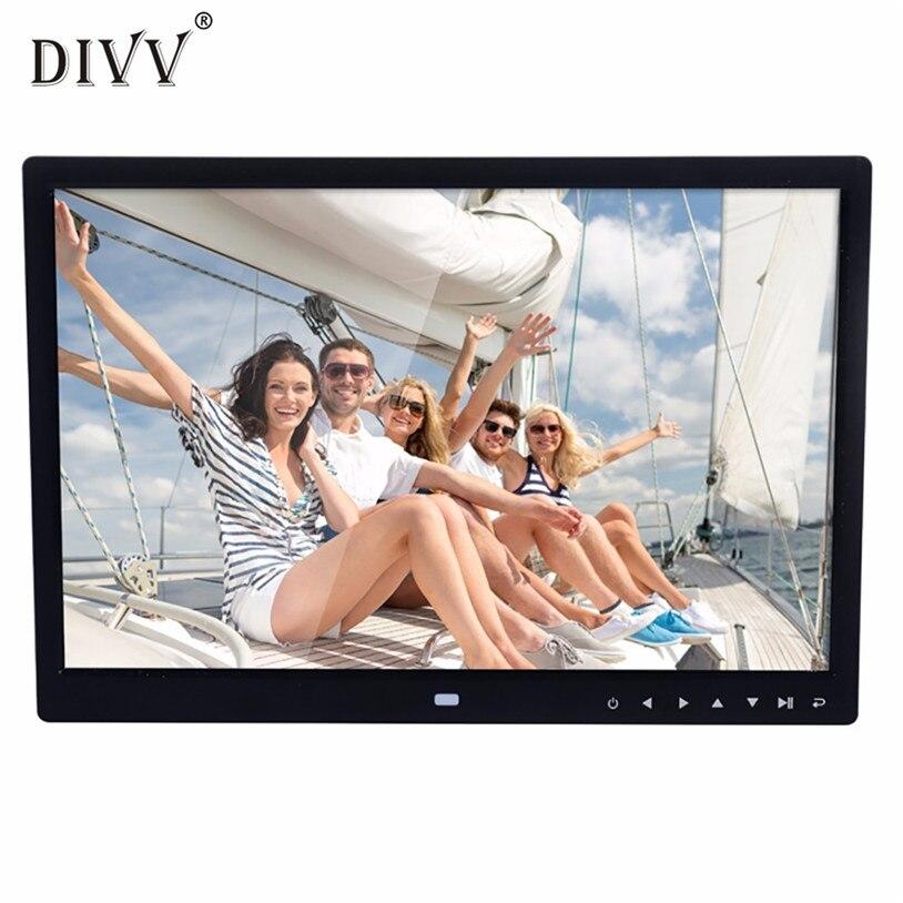 Cadre Photo numérique 15 pouces pour image avec lecture multimédia Design contemporain avec bouton tactile U70910