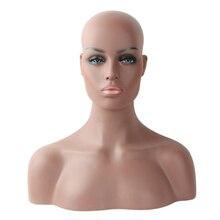 Реалистичный стекловолокно черный манекен голова бюст для париков