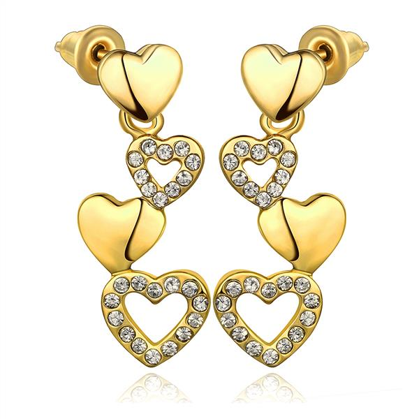 18k Gold Earrings Baby E1012 A Whole Nickle Free Antiallergic Real Plated For Women New Fashion Jewelry In Stud From