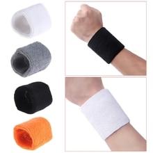 Unisex Cotton Sport Wristband Basketball Wrist Protector Sweatband Running Badminton Brace