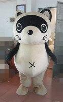 חתלתול חתול לבן מקסים Moggie תחפושת קמע עם עיניים גדולות Spinous אוזניים קטנות שחור גדול סגלגל ורוד ראש מטפחת