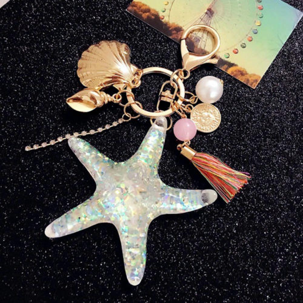 2017 uus armas koomiksimere meremaailma pärlmutter-võtmehoidja võtmehoidja võtmehoidja rõngasristiga ripats võtmehoidja kingitus sõbrannale