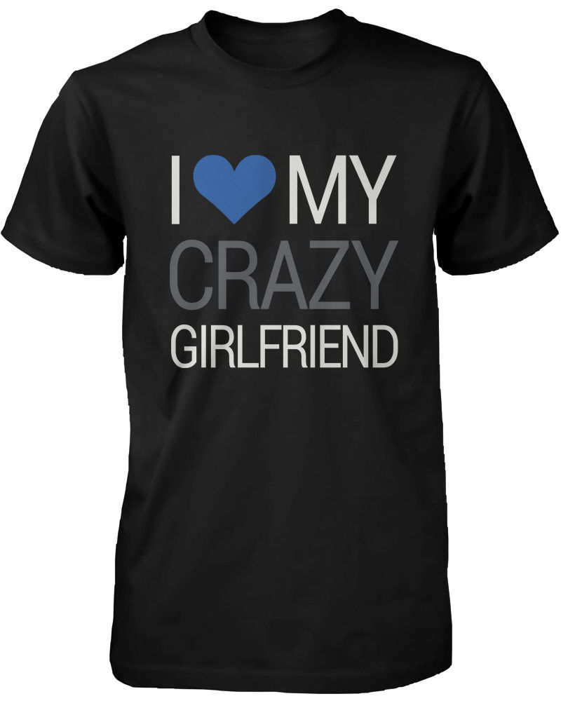 Aliexpress.com : Buy Couple T Shirts I Love My Crazy Boyfriend and ...