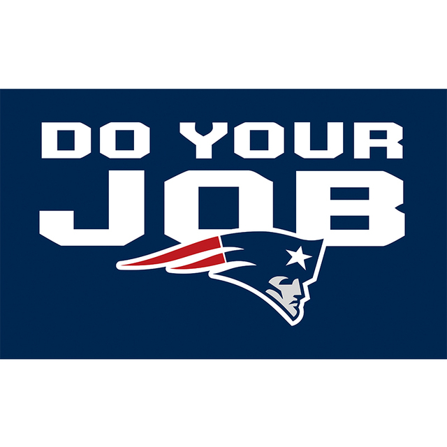 Foxborough New England Patriots Flag Banner Super Bowl Champions Flags 3x5Ft Patriots Banners Do Your Job Custom Text