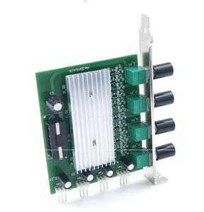 Image 2 - Computer Pc PCI Fan Speed Controller Switch PC 4 Channel 3 pin Wire Cooling Fan speed Control adjust