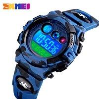 SKMEI детские спортивные часы 1547 детский светодиодный цифровые часы секундомер часы 50 м водонепроницаемые электронные наручные часы для маль