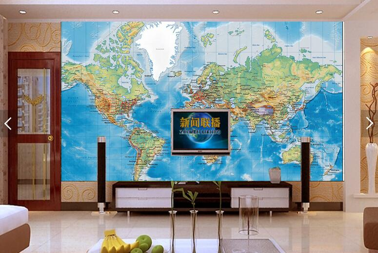 Aliexpress.com : Buy Customize 3D Detailed World Map Wallpaper Mural  Wallpaper Bedroom Television Sofa Children Room Background Wall Wallpaper  From Reliable ...
