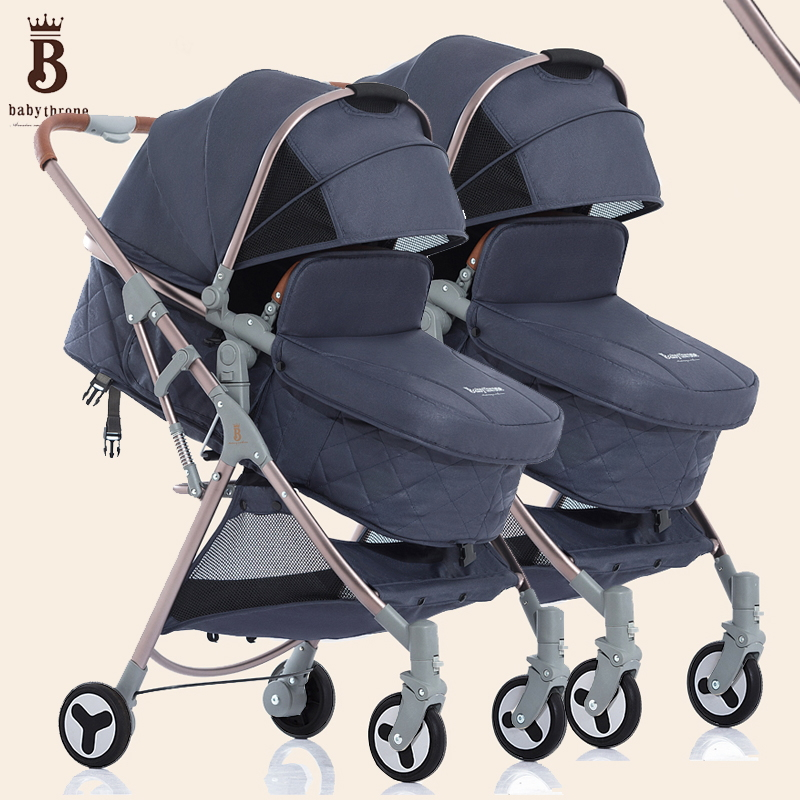 Us 355 55 18 Off Bugaboo Donkey Buggy Brand High Vision Twin Stroller Easy Fold And Can Seat Can Lay High Quatily Alloy Frame Landscape Pram In