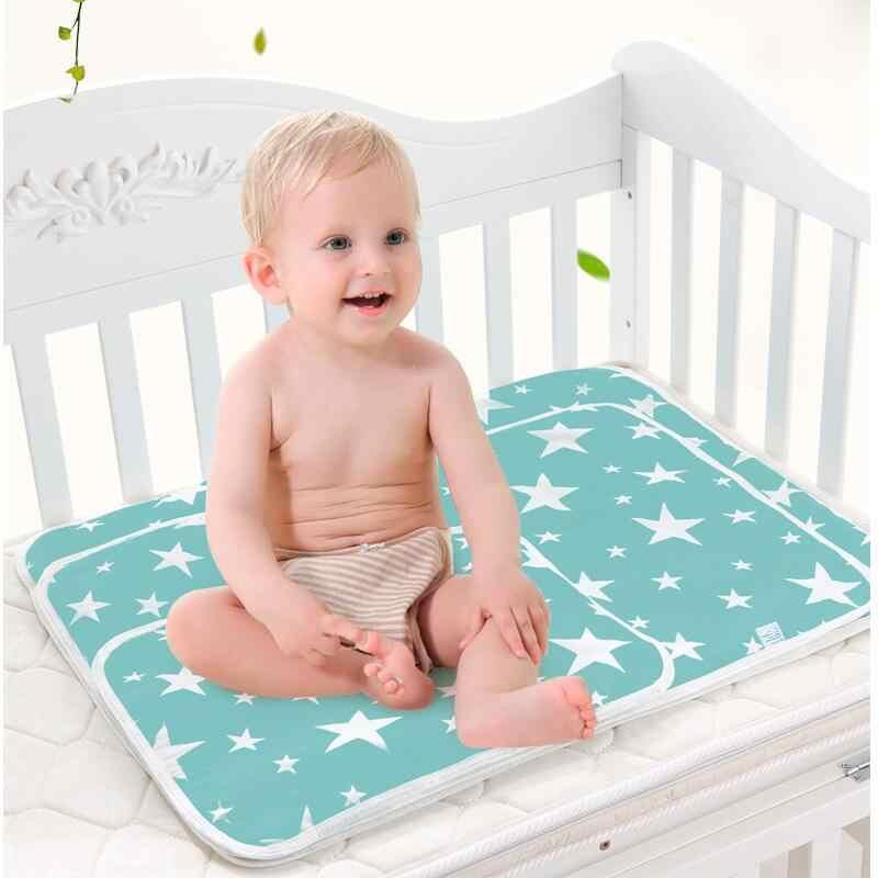 Almohadillas de cambio reutilizables para bebé cubre pañales de bebé pañales de colchón para recién nacido Ropa de cama de patrón aleatorio a prueba de agua Mat 035L