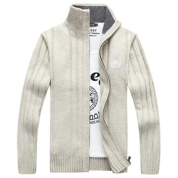 Jesienią 2018 moda męska fala mężczyzna sweter młodzieży Pure color collar cardigan dzianina