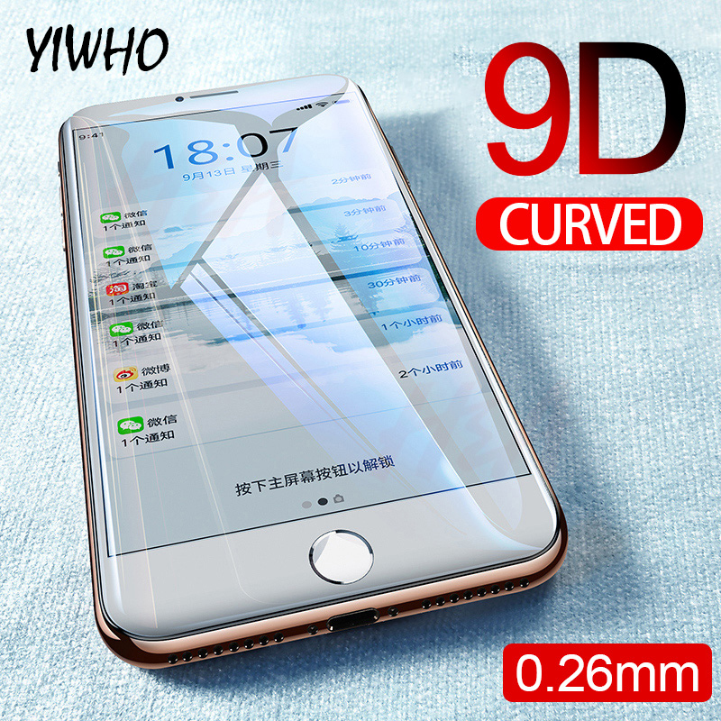 9D Full Glue Protective Glass On The For Iphone 6 Plus S 6s 7 8 X Xr XS 11 Pro Screen Protector Tempered Glas IphoneX IphoneXS