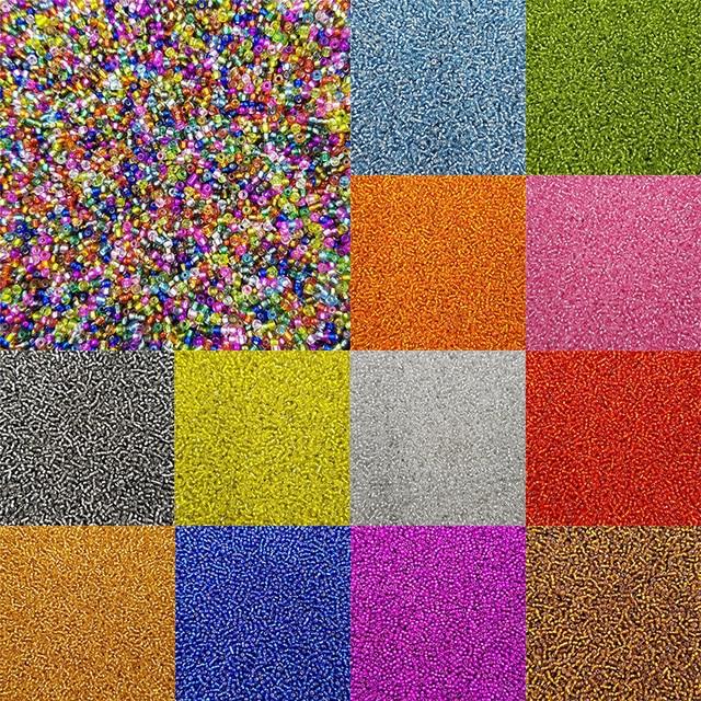 Шт./упак. 1000 мода 15 цветов colomniform стекло DIY для цепочки и ожерелья браслеты Очаровательные свободные бусины