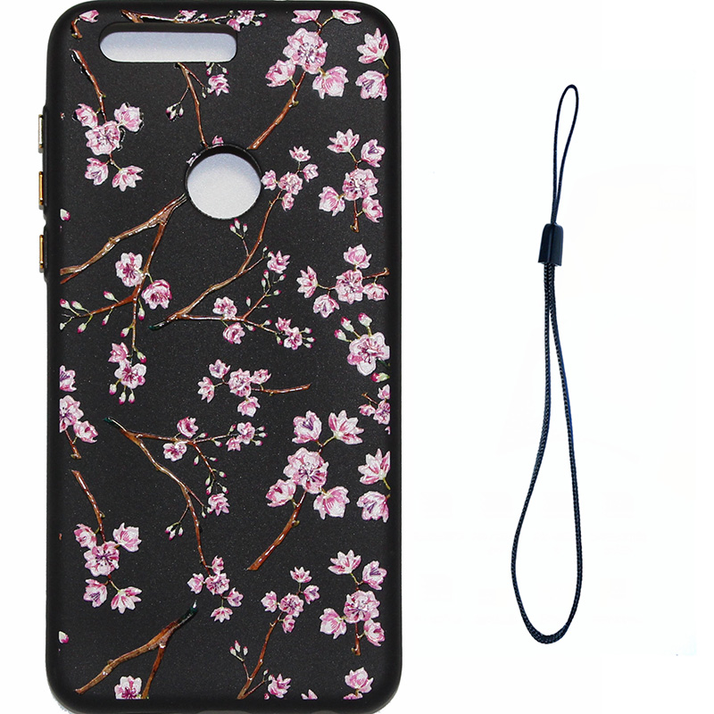 3D Relief flower silicone case huawei honor 8 (4)