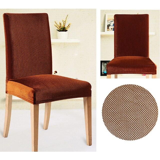 Velours De Mode Conception Universelle Elastique Couverture Chaise A Manger Bureau Computre Housse
